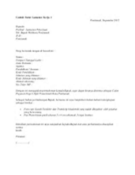 10 contoh surat lamaran kerja cpns ben