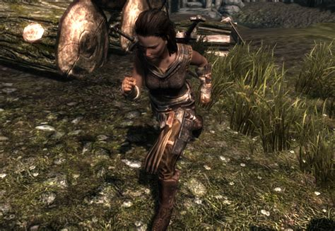 skyrim female running animation run sprint and jump at skyrim nexus mods and community