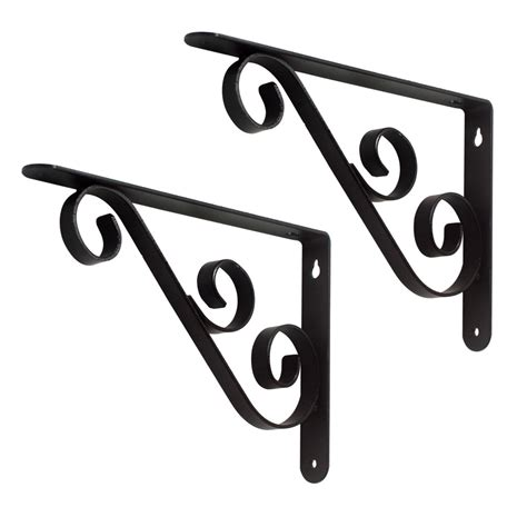 decorative shelf brackets shop style selections 6 1 2 in x 1 in decorative shelf bracket at lowes