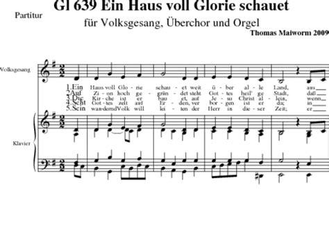 ein haus voll glorie schauet gotteslob musicalion 220 berchorsatz zu quot in haus voll glorie