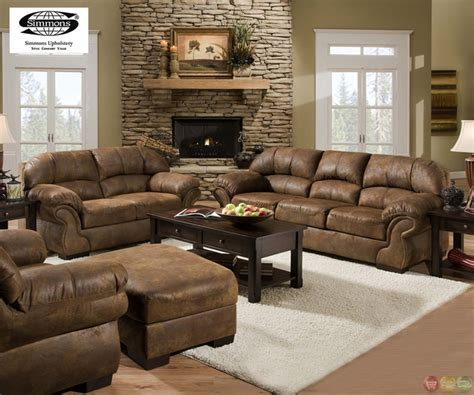 microfiber sofa and loveseat set pinto tobacco finish microfiber living room sofa and