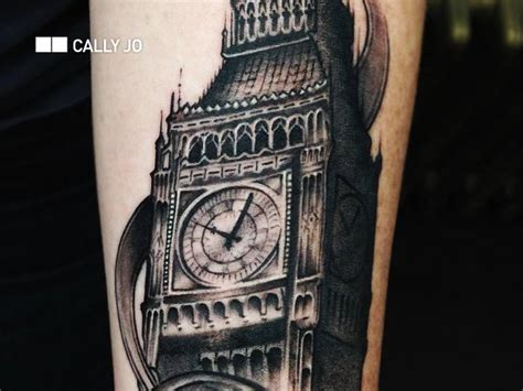 big bang tattoo realistic big ben by nyc