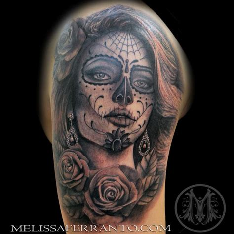 tattoo shops jacksonville nc day of the dead portrait by ferranto