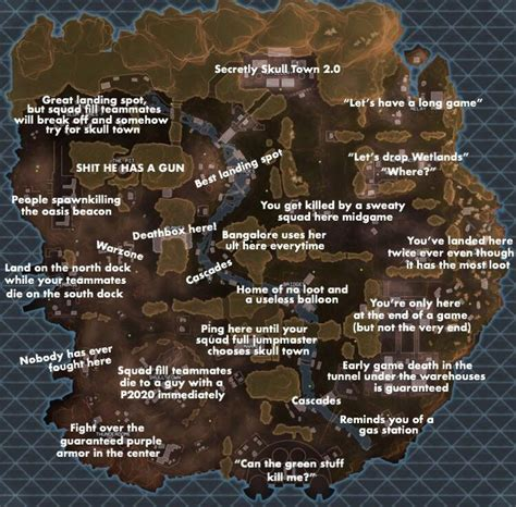 funny apex legends map perfectly sums   games