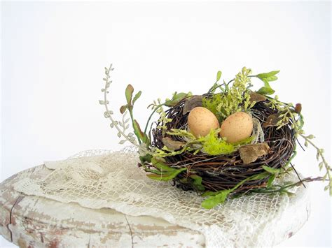 The Nest Home Decor Charming Decorative Birds Nest With Eggs Wedding