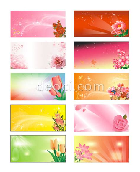 design card template coreldraw 10 vector flowers advertising the panels background