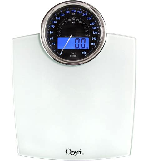 ozeri bathroom scale review ozeri rev digital bathroom scale with electro mechanical weight dial two