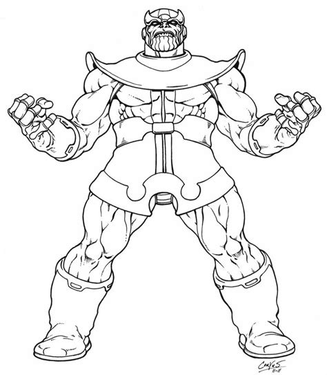 marvel thanos coloring pages thanos returns inked by corvus1970 on deviantart