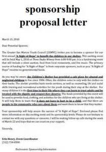 Charity Grant Application Letter sample sport event sponsorship proposal template free school