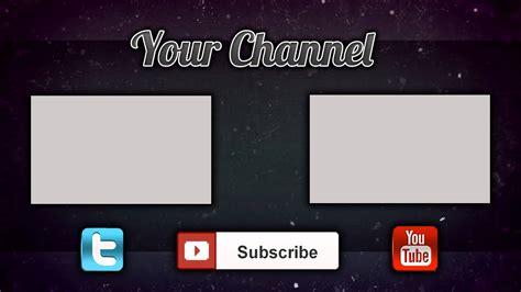 end card editor template end card end slate for my channel requests