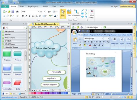 word layout software export diagrams to ms office