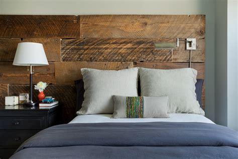 contemporary blue bedroom dazzling reclaimed wood headboard vogue new york