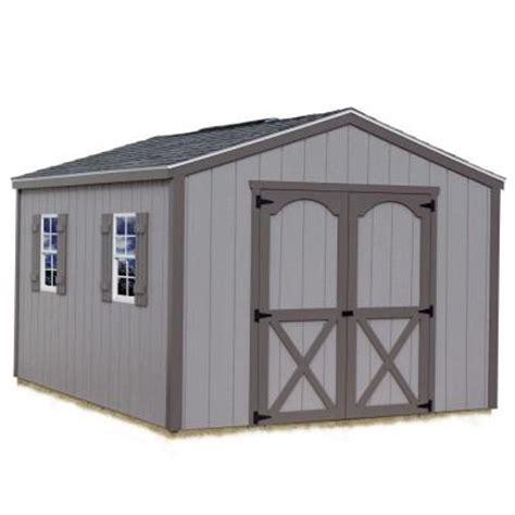 Home Depot Wooden Sheds by Best Barns Elm 10 Ft X 16 Ft Wood Storage Shed Kit Elm