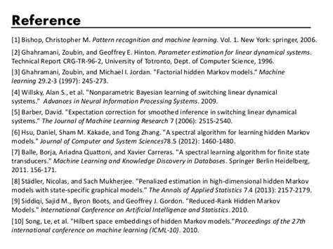 pattern recognition and machine learning springer new york probabilistic models of time series and sequences