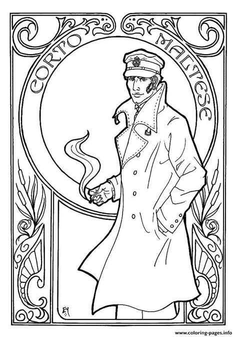 art nouveau coloring pages coloring home