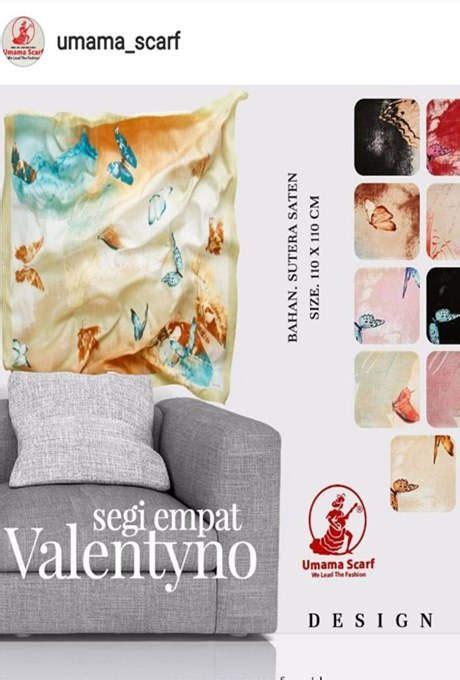Segiempat Valentino harga jual jilbab umama grosir pasmina branded lv