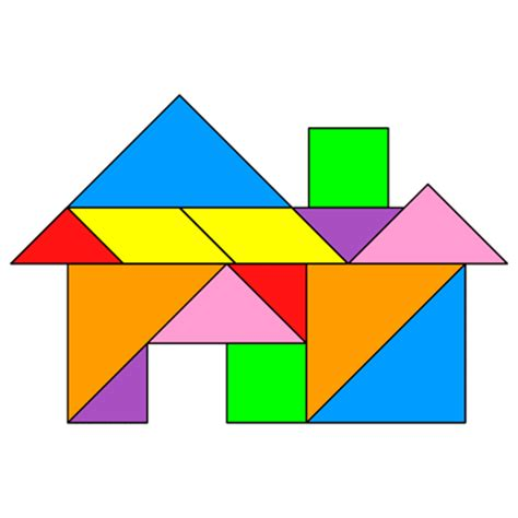 games where you design houses tangram house clipart best