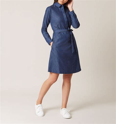 Dress Denim blue denim dress casual dresses dresses hobbs