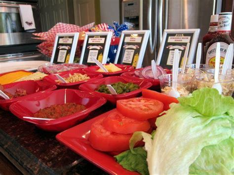 burger bar topping ideas condiment burger bar party ideas pinterest