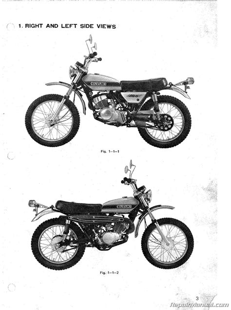 Suzuki Service Parts 1971 1976 Suzuki Ts185 Supplemental Motorcycle