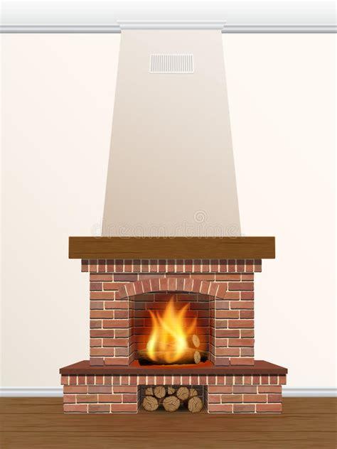camino con fuoco camino con fuoco bruciante illustrazione vettoriale