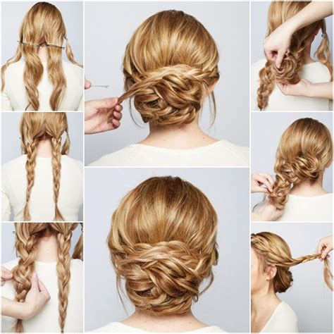 hair chignon how to diy chic braided chignon hairstyle