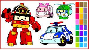 robocar poli coloring pages coloring poli roy amber helly coloring books adults