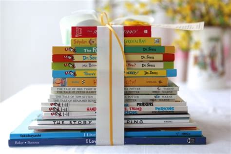 the baby favor books for the of home stack of baby books gift