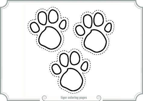 coloring page tiger paw tiger paw coloring sheet printable coloring pages tiger
