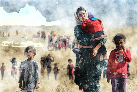 Home Decor Uk Online kurdish refugees painting by motionage designs