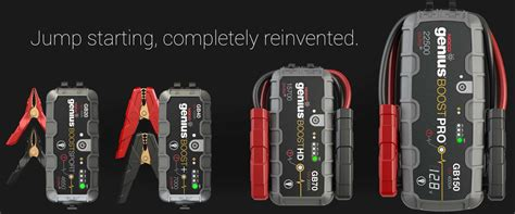 noco genius boost battery charger jumper cables vs portable lithium battery jump starter