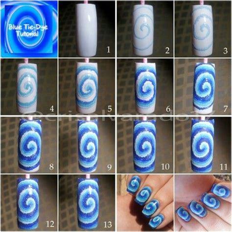 nail art tie dye tutorial tie dye tutorial nails tutorials pinterest dyes