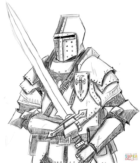 knight coloring page free printable coloring pages