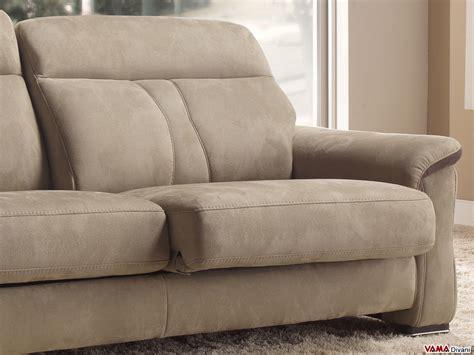 divani pelle e tessuto divano moderno in tessuto e pelle con sedute allungabili