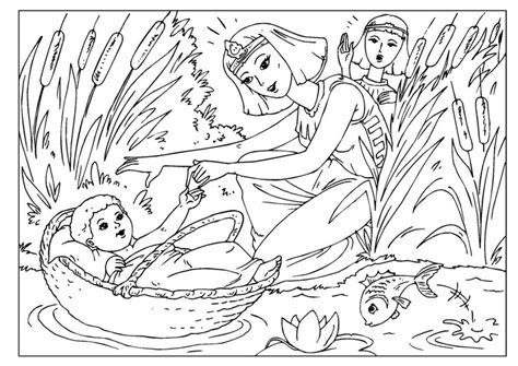 moses coloring pages preschool coloring page baby moses kleurplaat pinterest baby