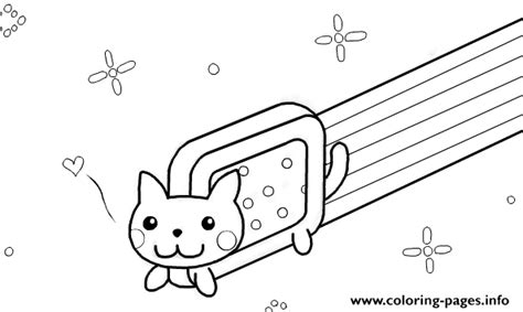 coloring page nyan cat nyan cat template by kixfe coloring pages printable