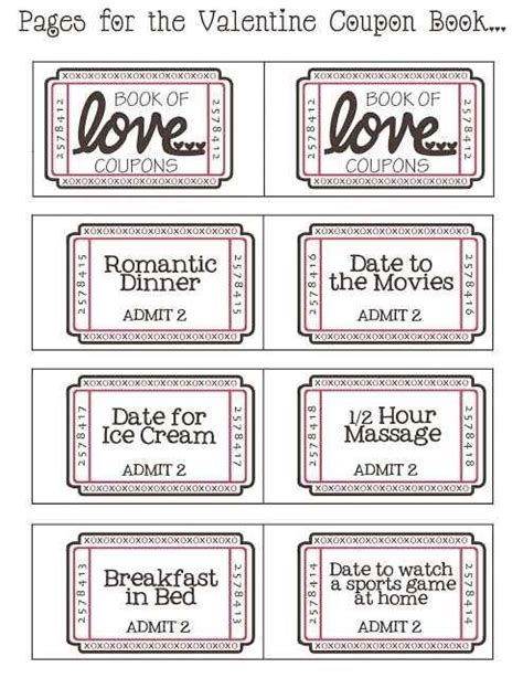 free printable valentine love coupons free printable valentines day love coupons for him cole