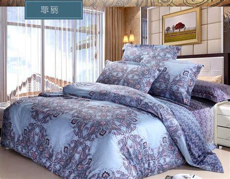 Blue Paisley Bedding Sets Brand Luxury Blue Paisley Bedding King Set Bohemian Duvet Covers Set Comforter Sets King