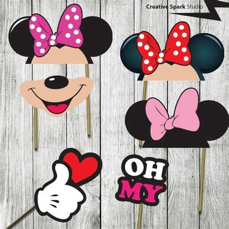 printable photo booth props pinterest printable minnie mouse photo booth props google search