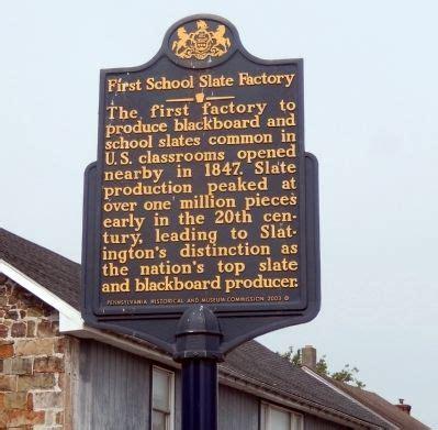 school slate factory historical marker