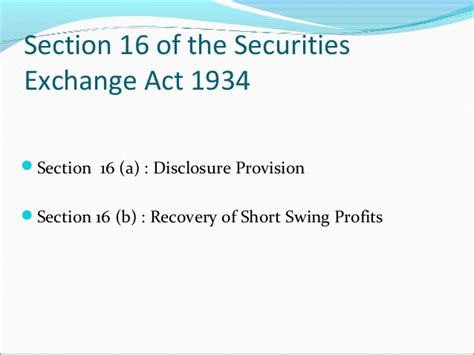 securities exchange act of 1934 section 10 b section 14 a securities exchange act 28 images proxy