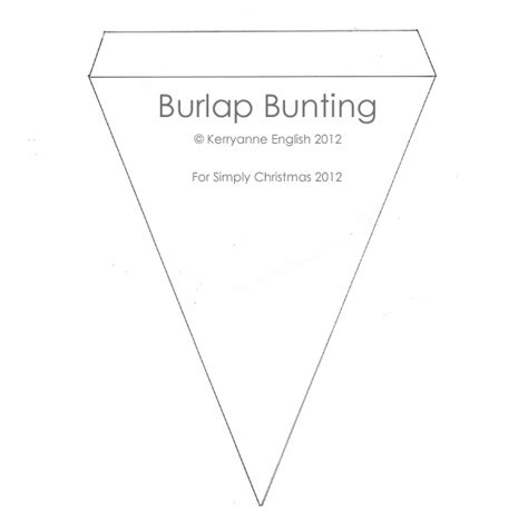 bunting template string up some burlap bunting shabby boutique