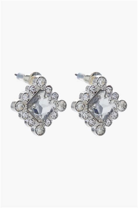 Square Stud square stud earrings in silver originals uk