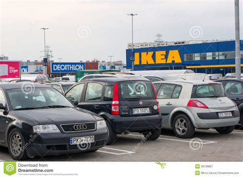 ikea parking lot ikea parking lot editorial photography image 39139867