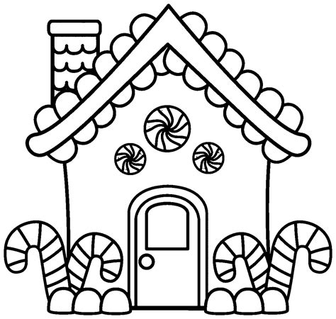 gigerbread house coloring page az coloring pages