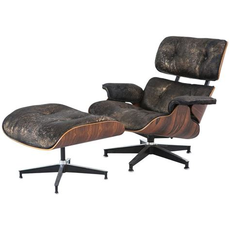 cowhide chair and ottoman rosewood eames lounge chair and ottoman reupholstered in
