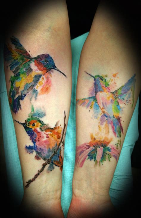 watercolor tattoo bird surrealoasis tattoos