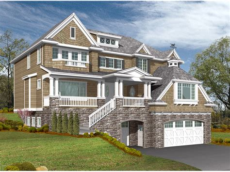 freestone multi level home plan 071s 0013 house plans