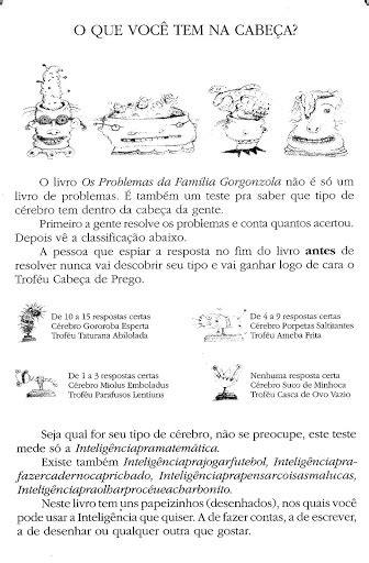 História os problemas da família gorgonzola - ENSINANDO