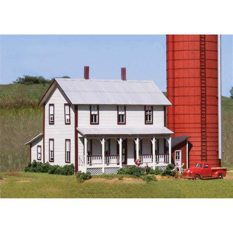 laserkit two story farmhouse kit ho scale